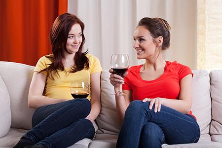 Prostředí pro pití vína