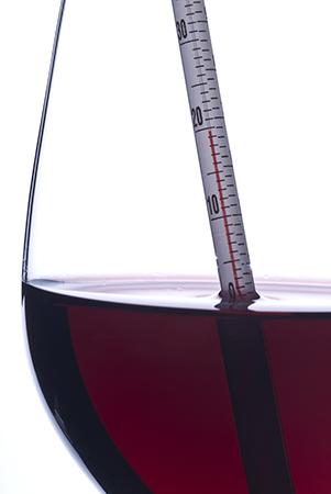 Teplota podávaného vína